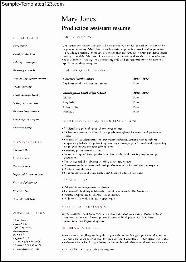 Production assistant Resume Examples Cover Letter