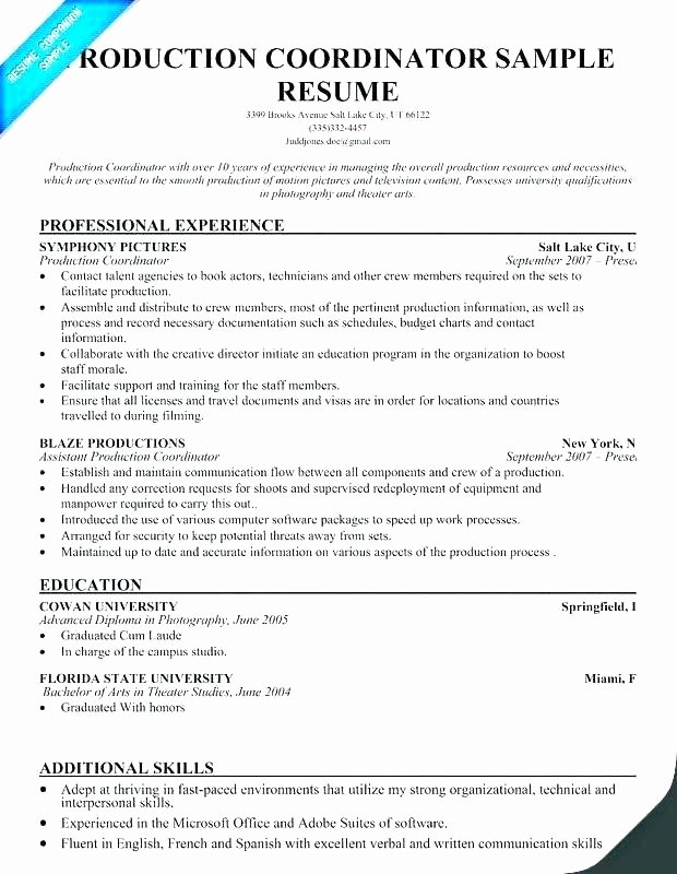 Production assistant Resume Sample – Quickplumber