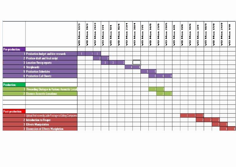 Production Schedule by Charlotte Bracken