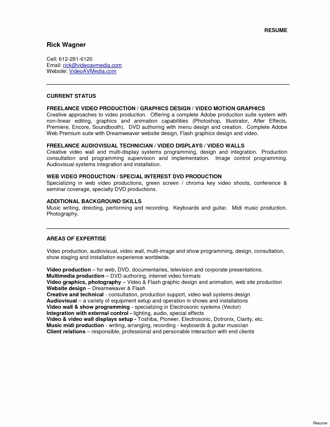 Production Technician Sample Resume Sample Tickets