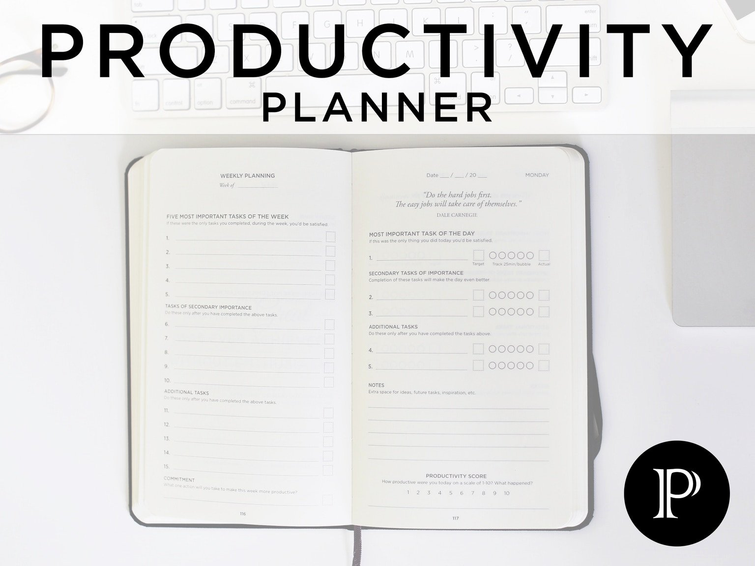 Productivity Planner Get More Done and Beat