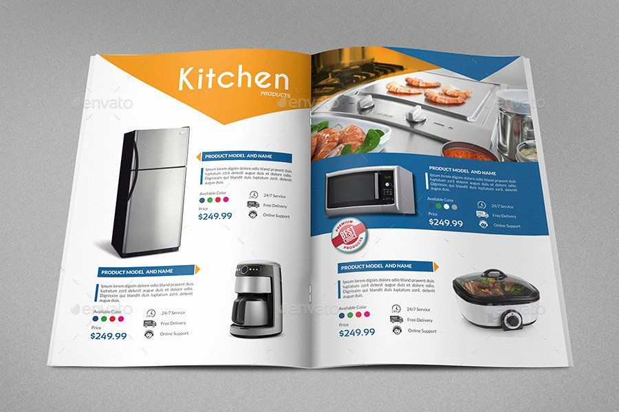 Products Catalog Brochure Template Vol2 24 Pages by