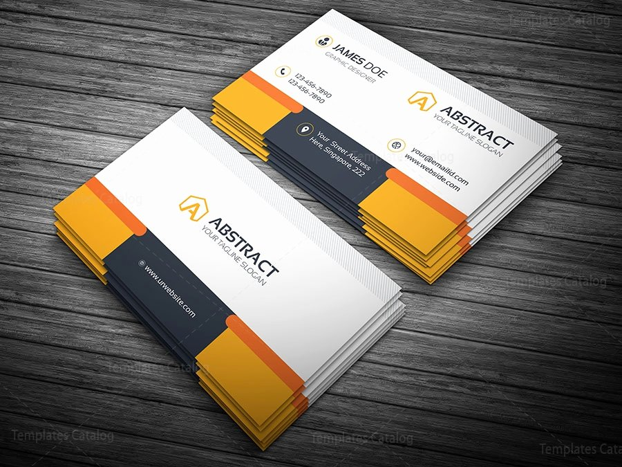 Professional Business Card Template Template Catalog