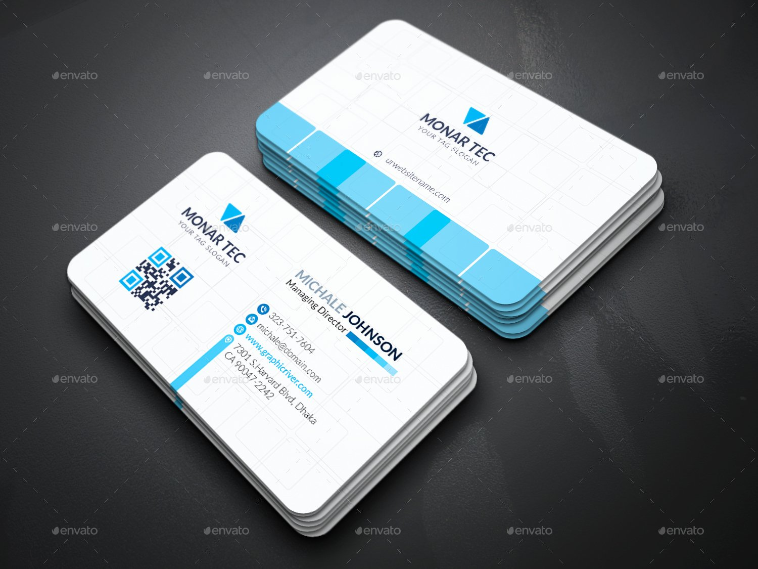 Professional Business Cards Print Ad Templates