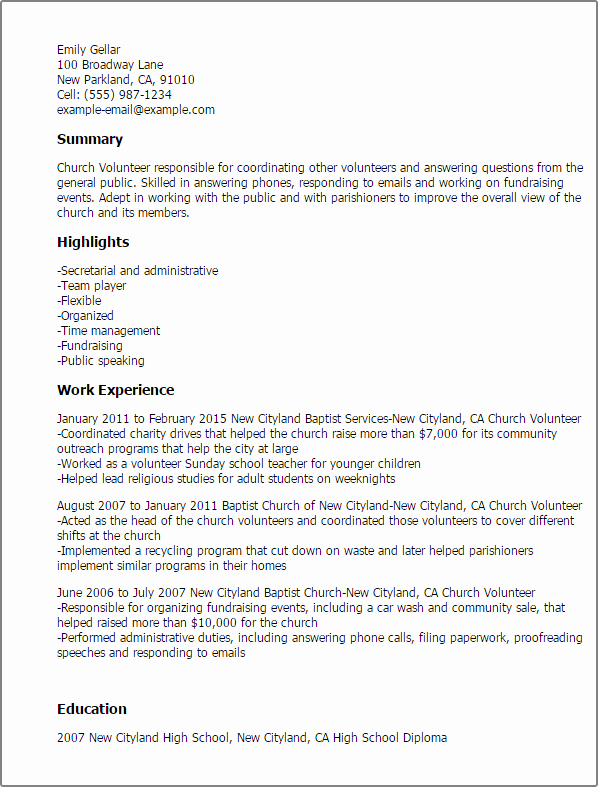 Professional Church Volunteer Templates to Showcase Your