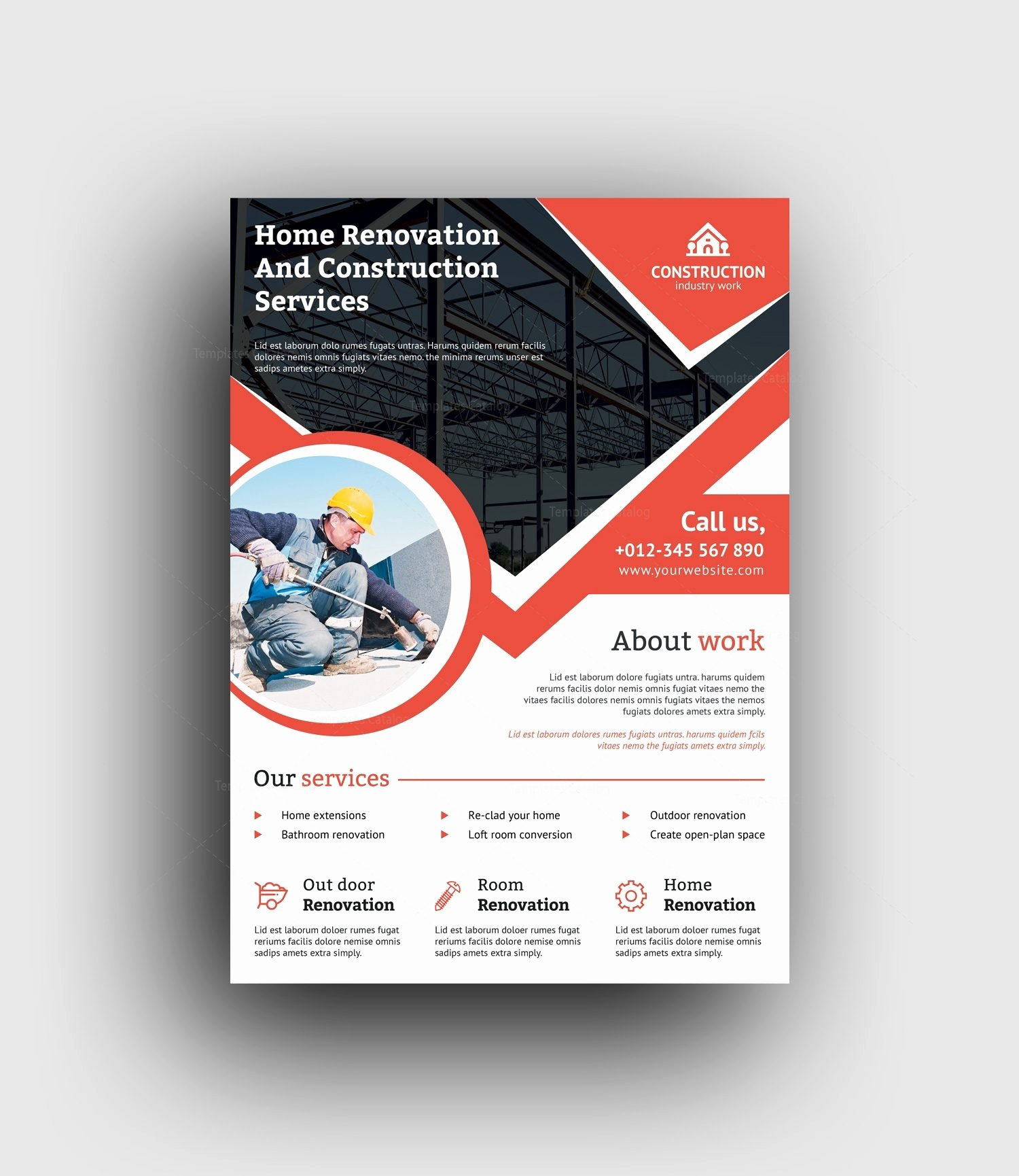 Professional Construction Flyer Design Template