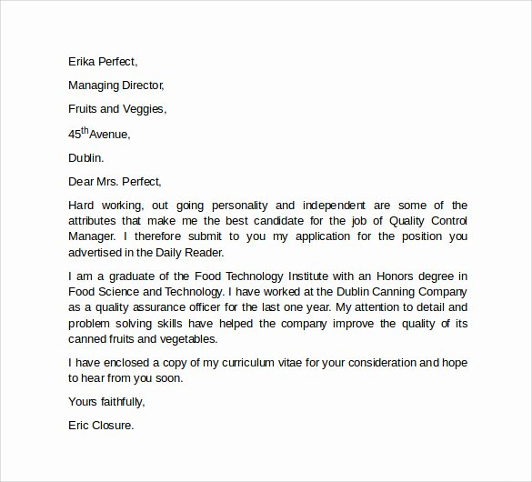 Professional Cover Letter Template 10 Download Free