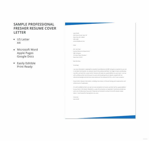 Professional Cover Letter Template – 14 Free Word Pdf