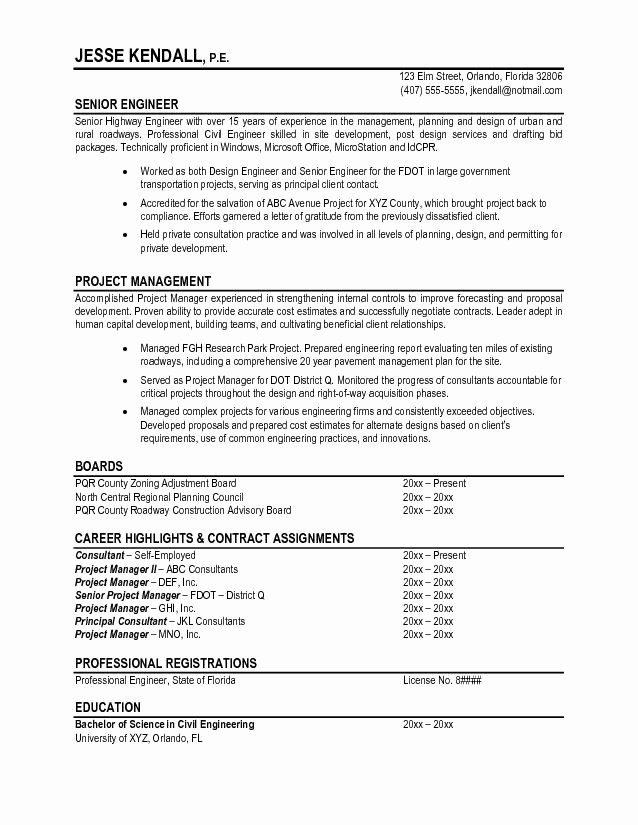 Professional Engineer Resume Best Resume Gallery