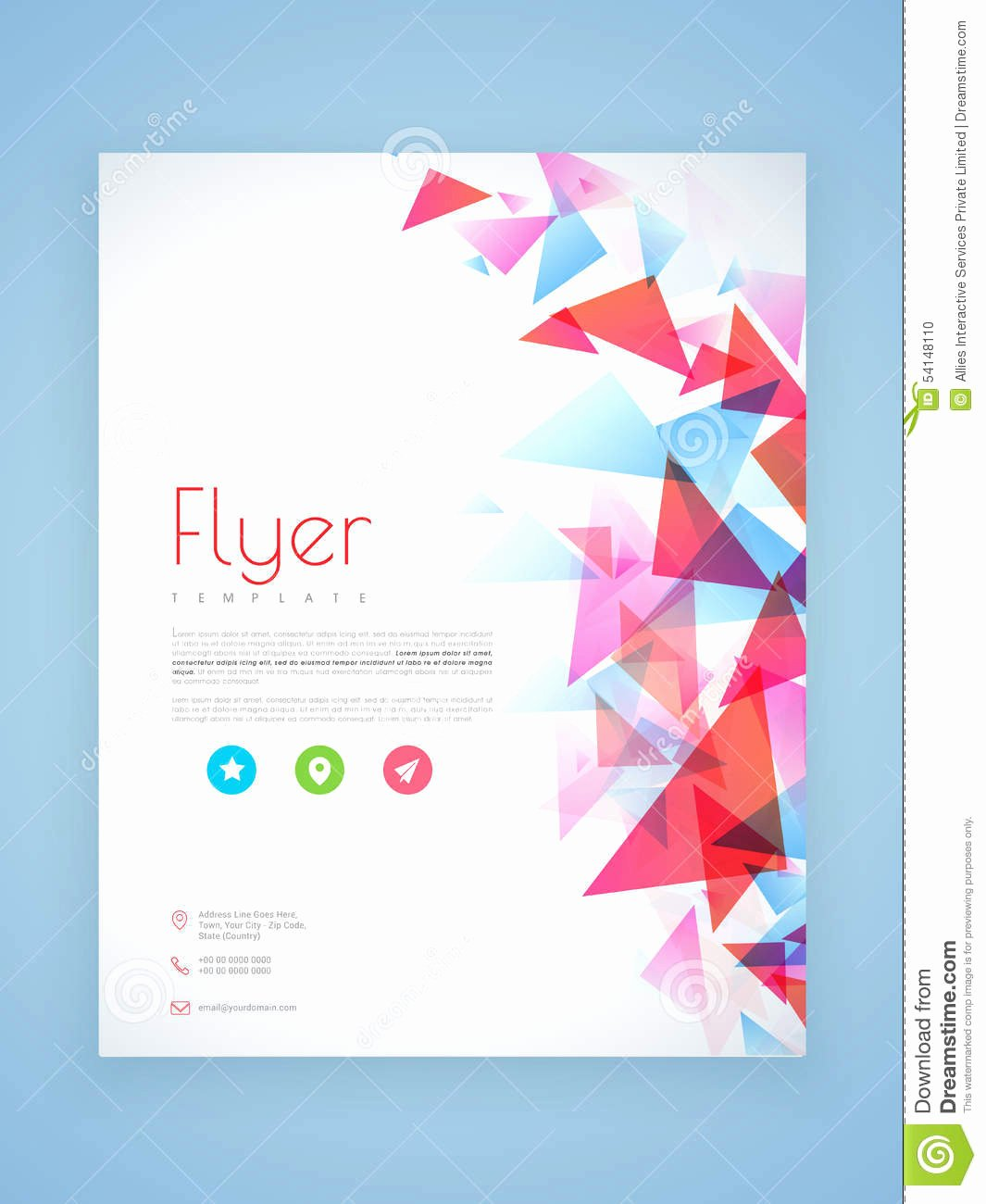 Professional Flyer Template Brochure Design Stock