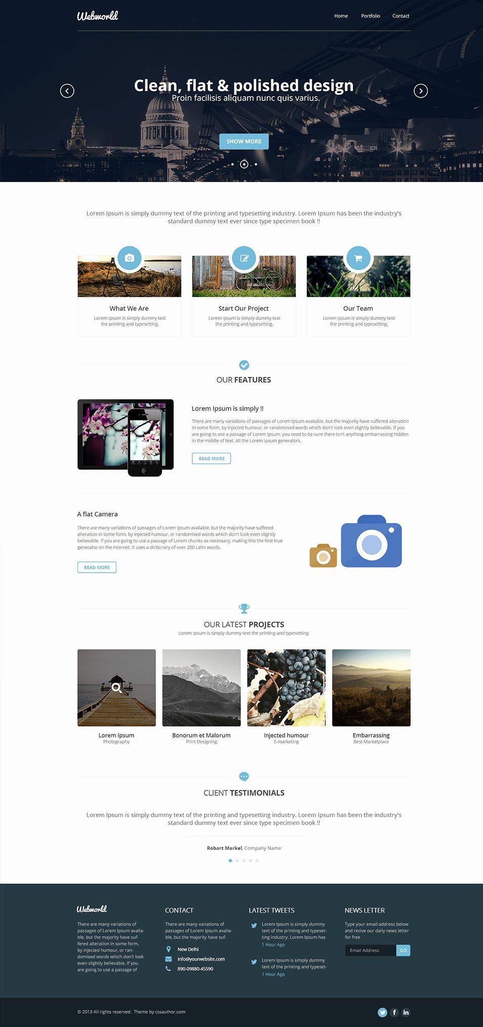 Professional Free Corporate Web Design Template Freebies