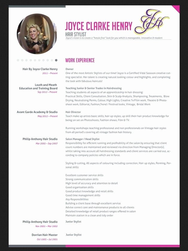 Professional Hair Stylist Resume Jobresumesample