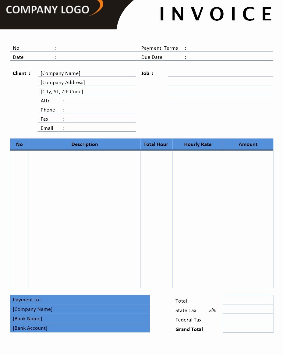 Professional Invoice Template Word Fiveoutsiders
