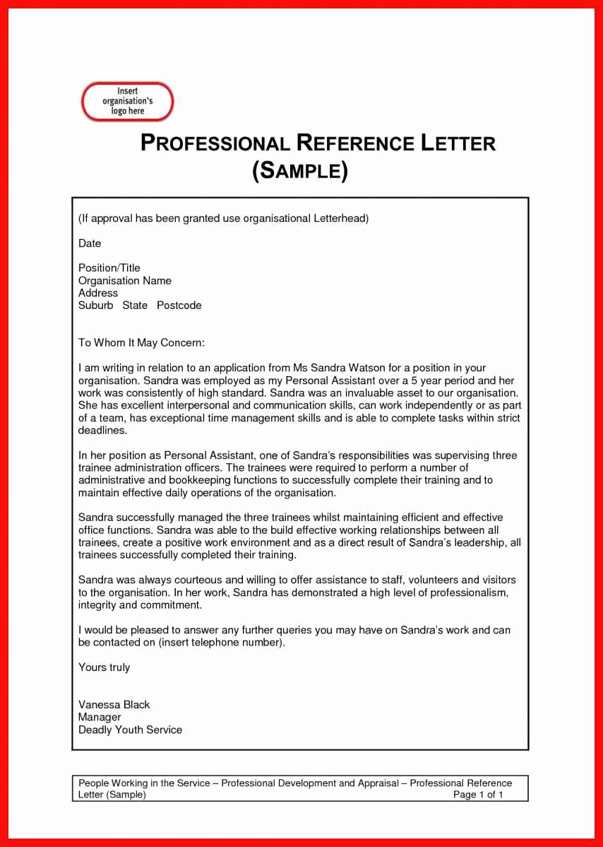Professional Letter Sample