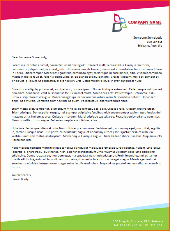 Professional Letter Template Microsoft Word to