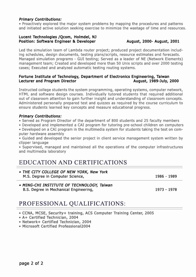 Professional Level Resume Samples Resumesplanet