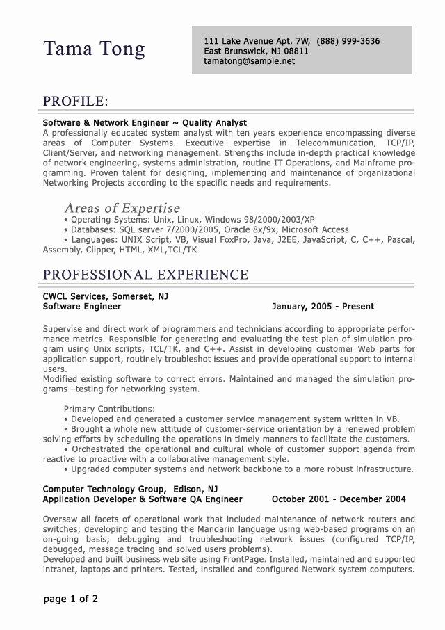 Professional Level Resume Samples Resumesplanet