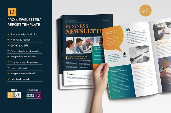 Professional Newsletter Template V12 Brochure Templates