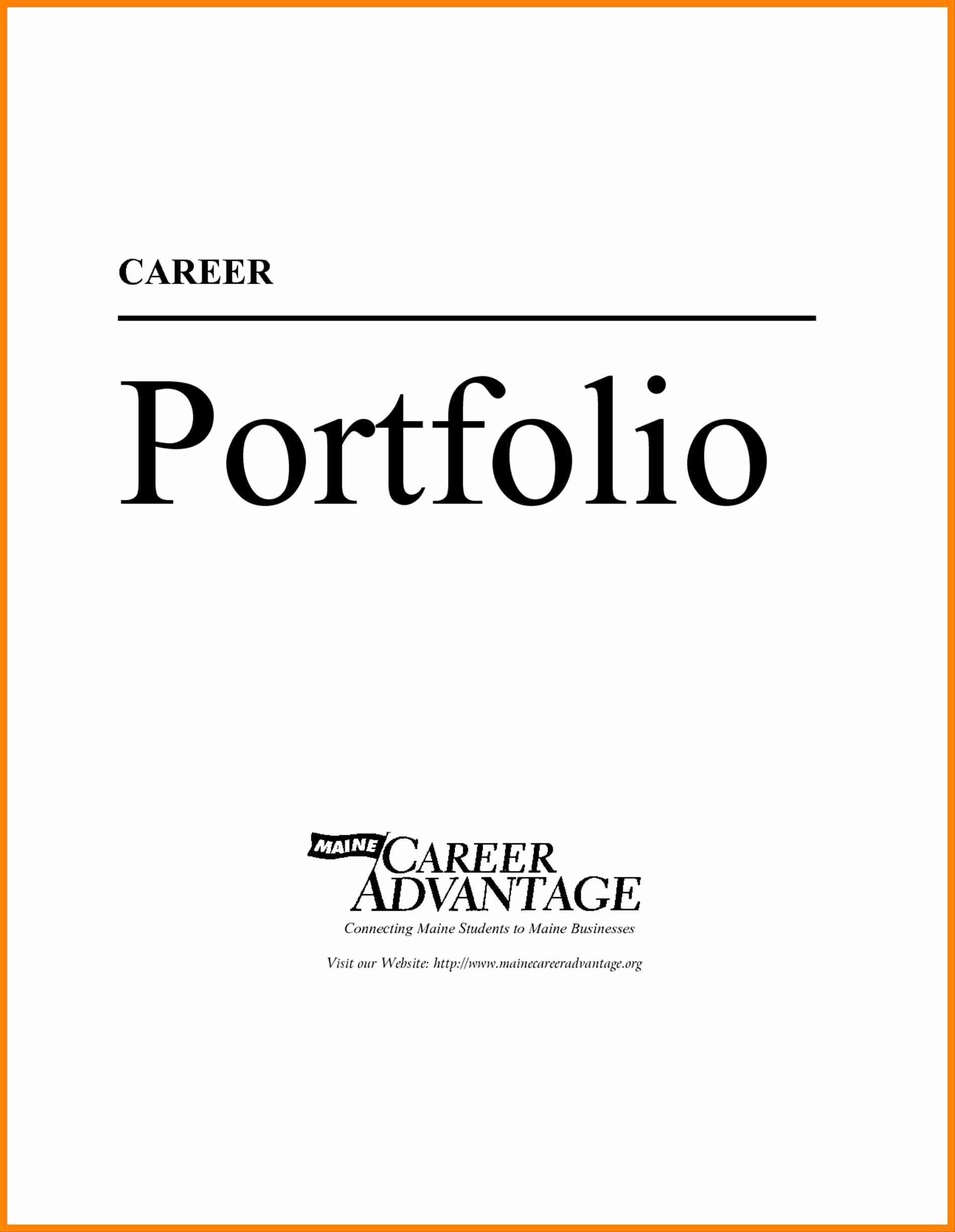 Professional Portfolio Cover Examples