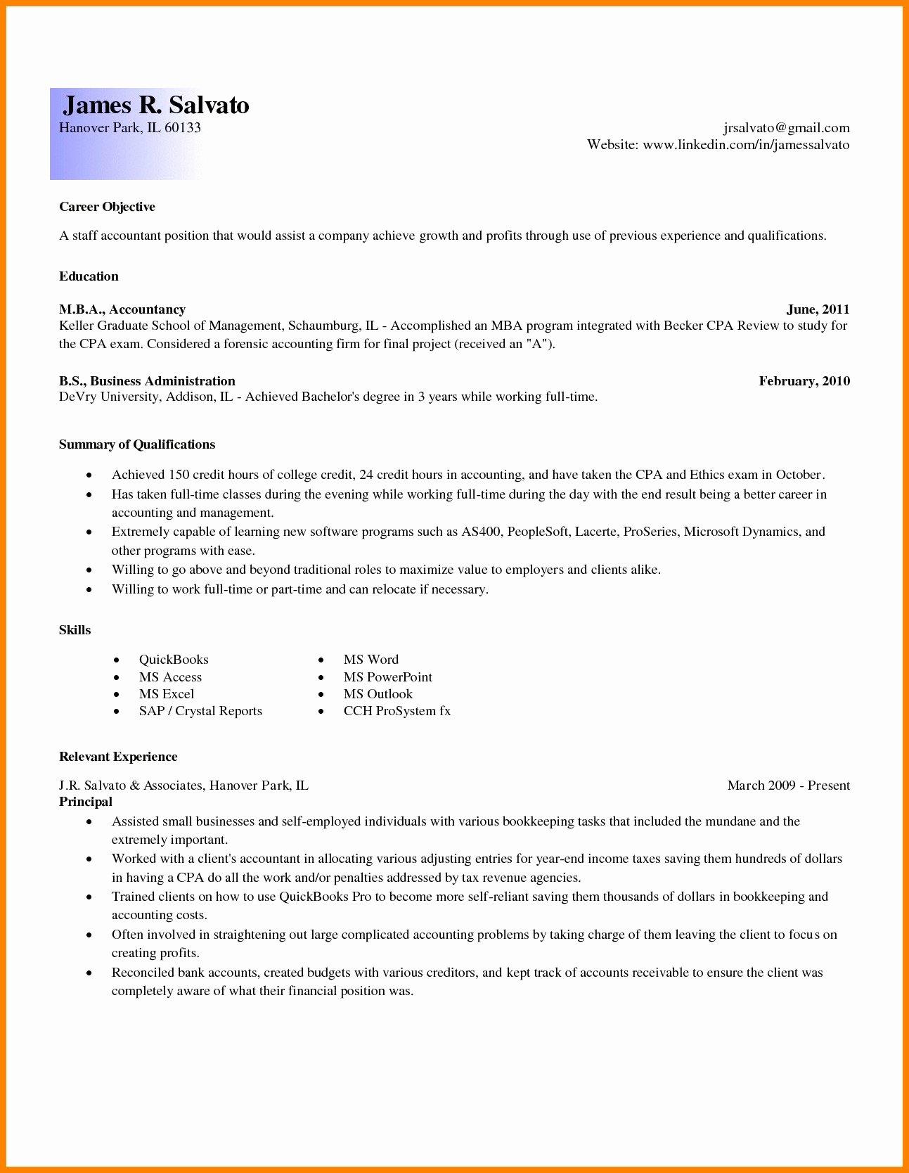 Professional Profile Resume 7 Examples