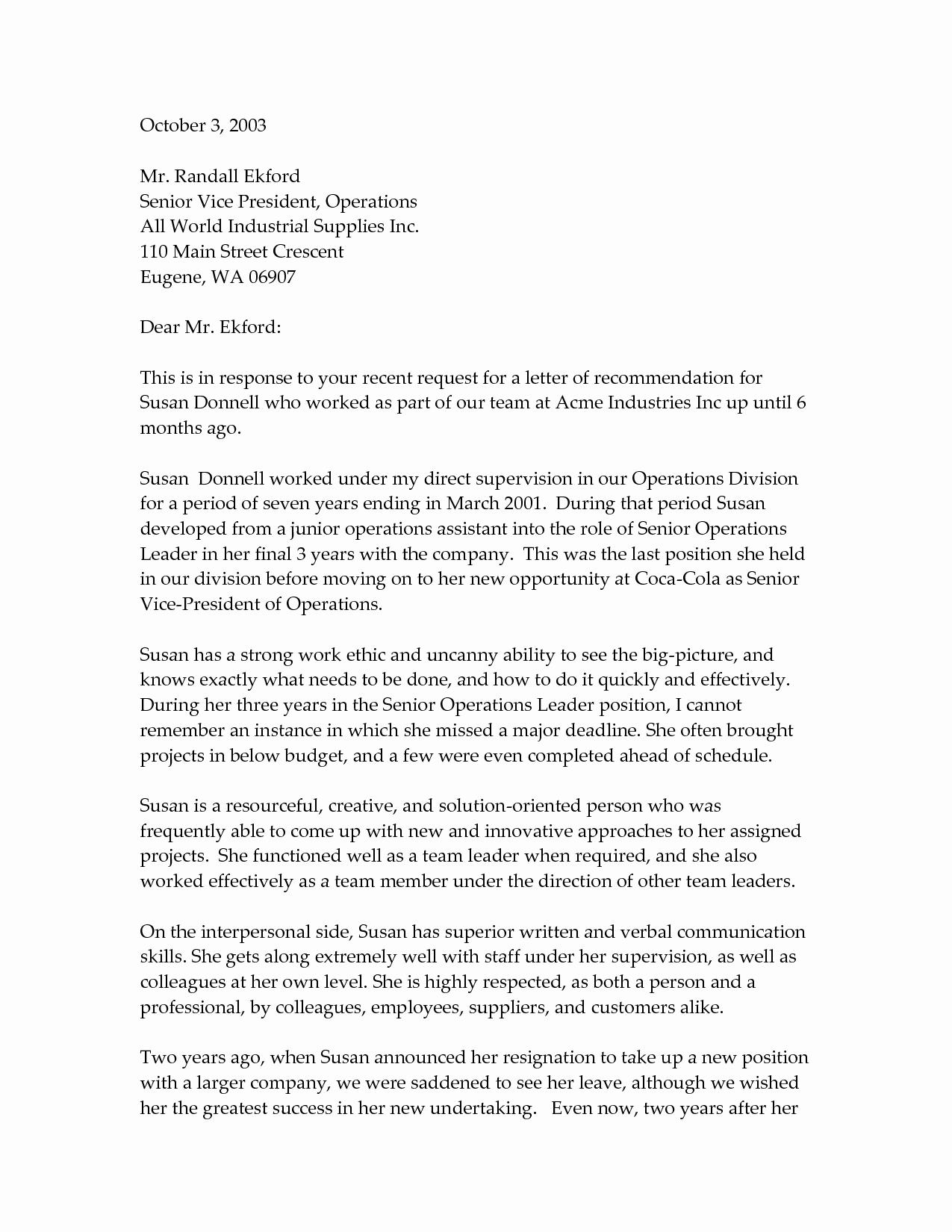 Professional Re Mendation Letter