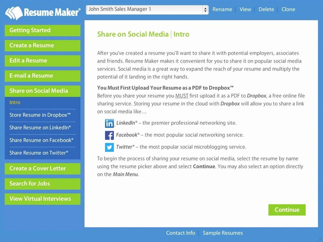 Professional Resume Builder software Free Download