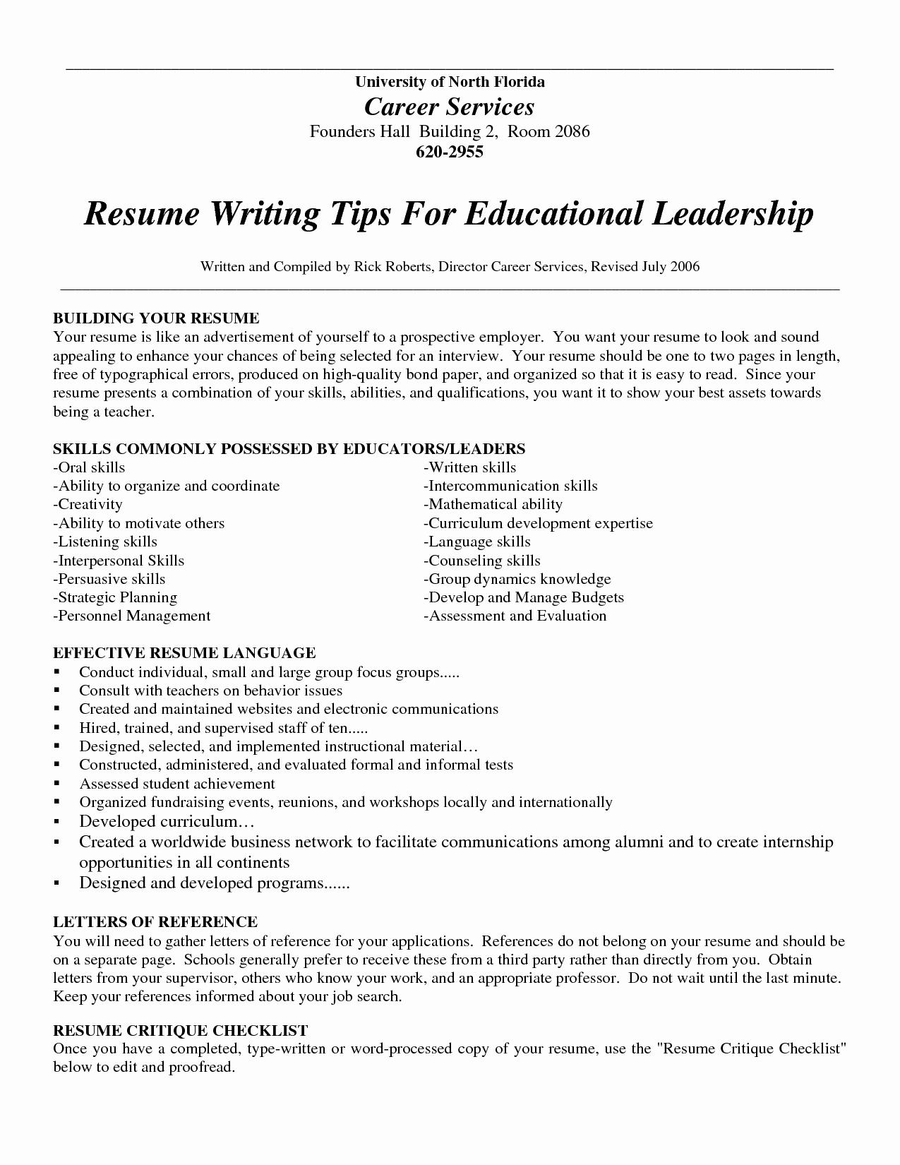 Professional Resume Tips
