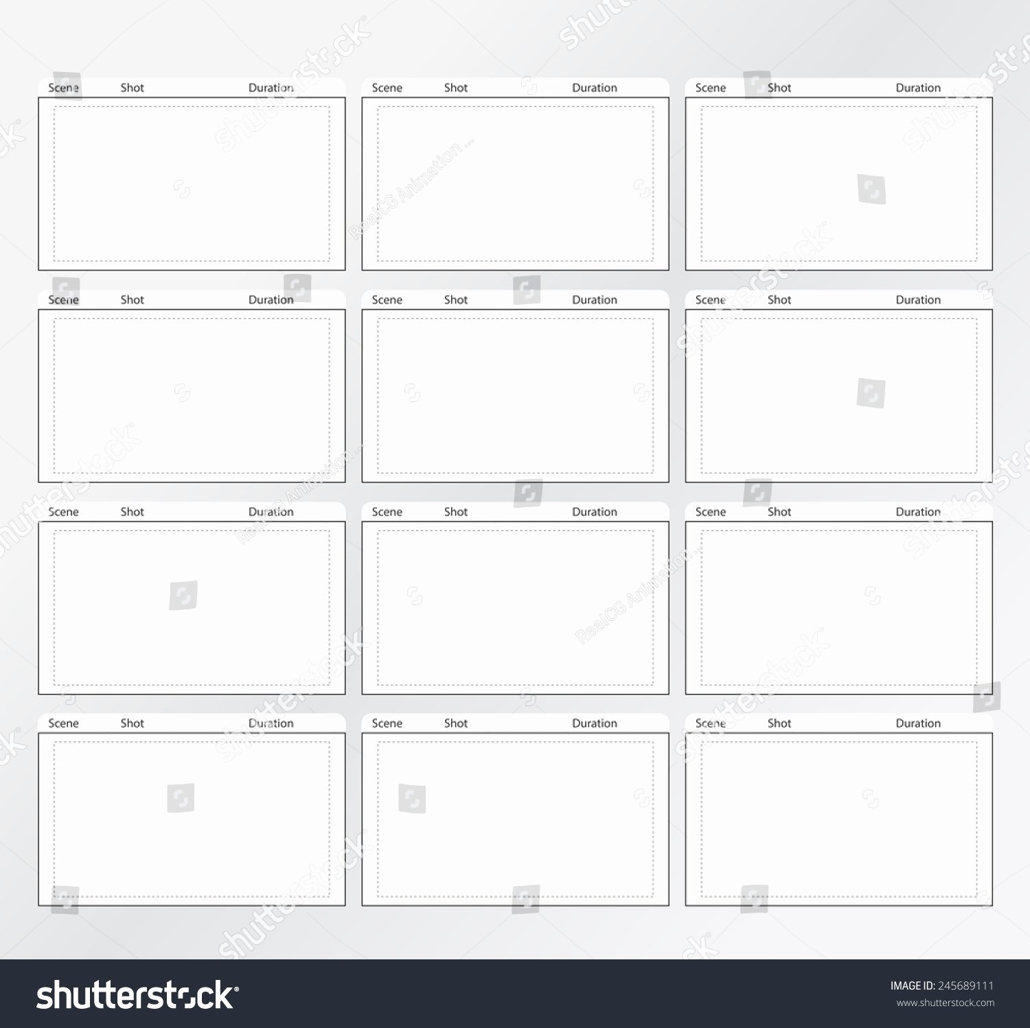 Professional Storyboard Template Easy Present Stock