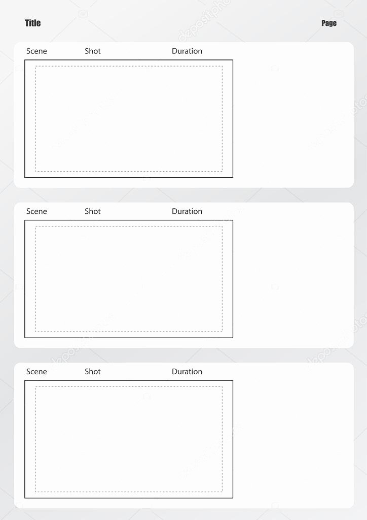 Professional Storyboard Vorlage Vertikale — Stock