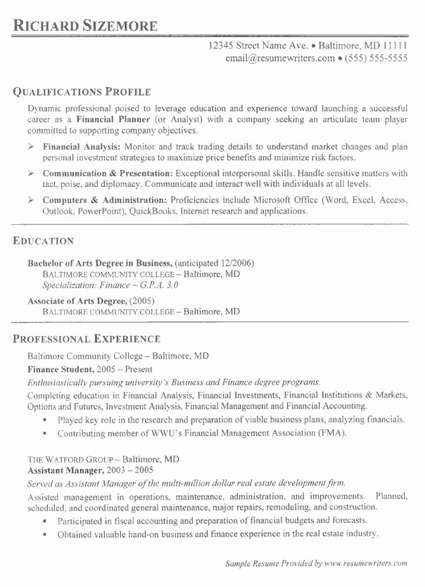 Professional Student Resume Best Resume Collection