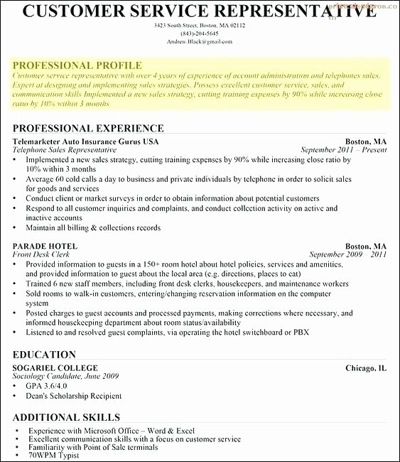 Profile Resume Sample Sample Resume Profile Skills Sample