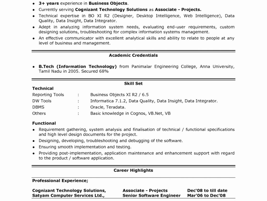 Profiles Examples for Resumes