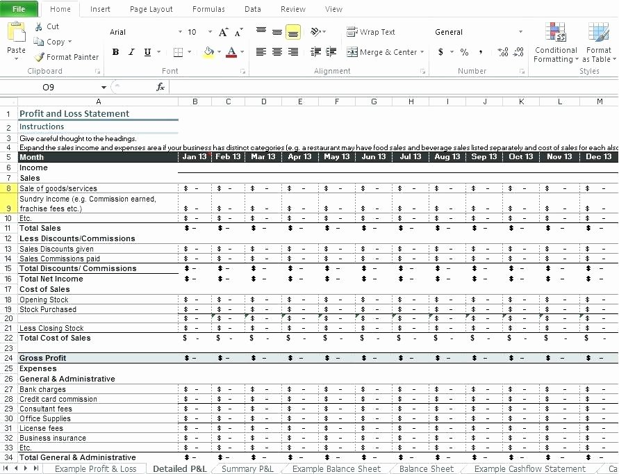 Profit and Loss Statement Excel Template – Teletiendaub