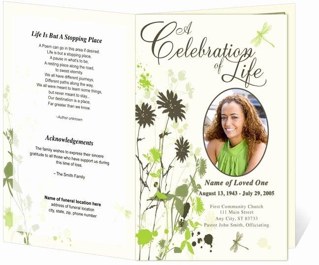 Program Template Memorial Service Program and Memorial
