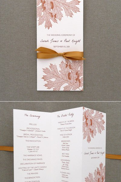 Program Template – Tri Fold Fall Leaves – Download & Print