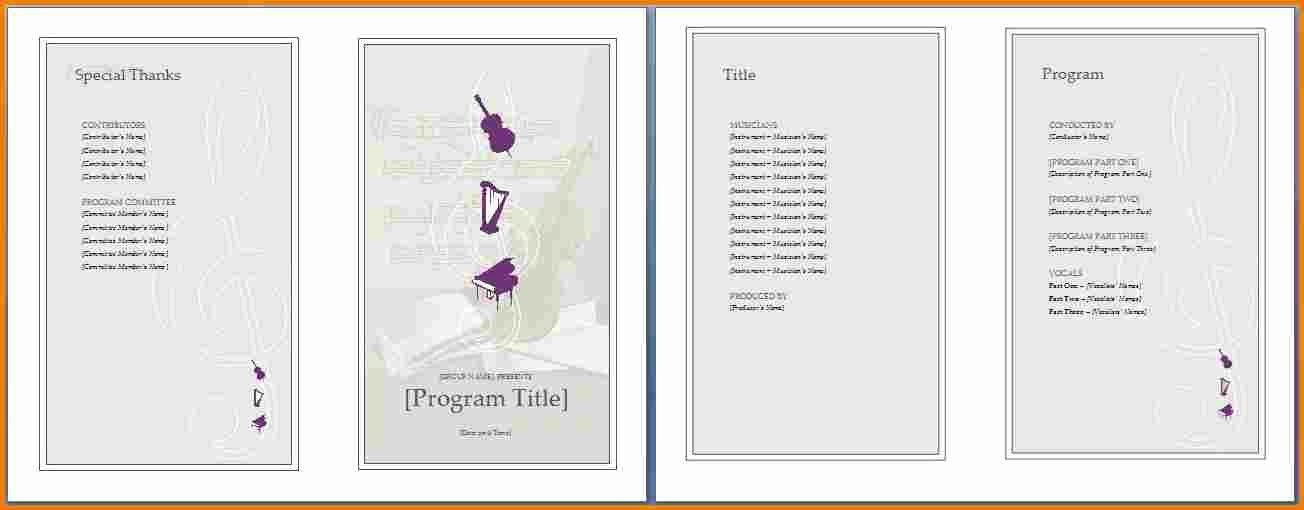 Program Template Word