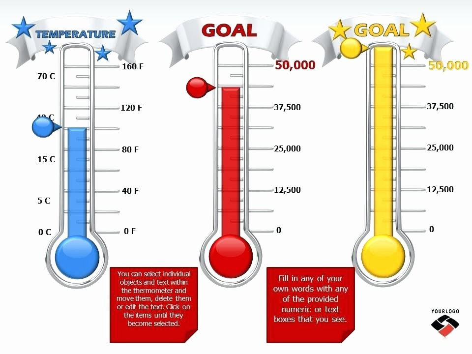 Progress Chart Templates thermometer Template – Freetruthfo