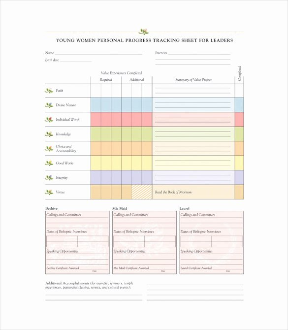 Progress Tracking Template – 11 Free Word Excel Pdf