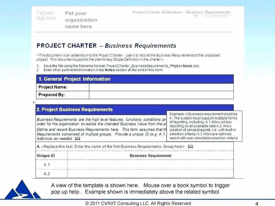 Project Charter Pmbok Template Gallery Template Design Ideas