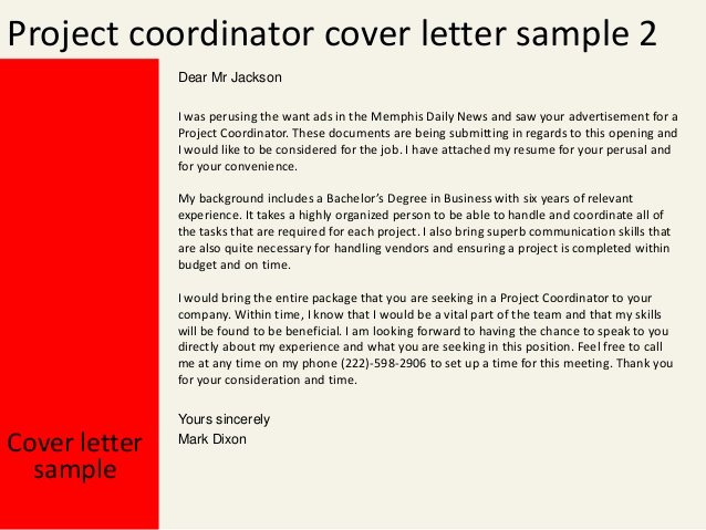 8 Project Manager Cover Letter Bud Template Letter – Latter ...