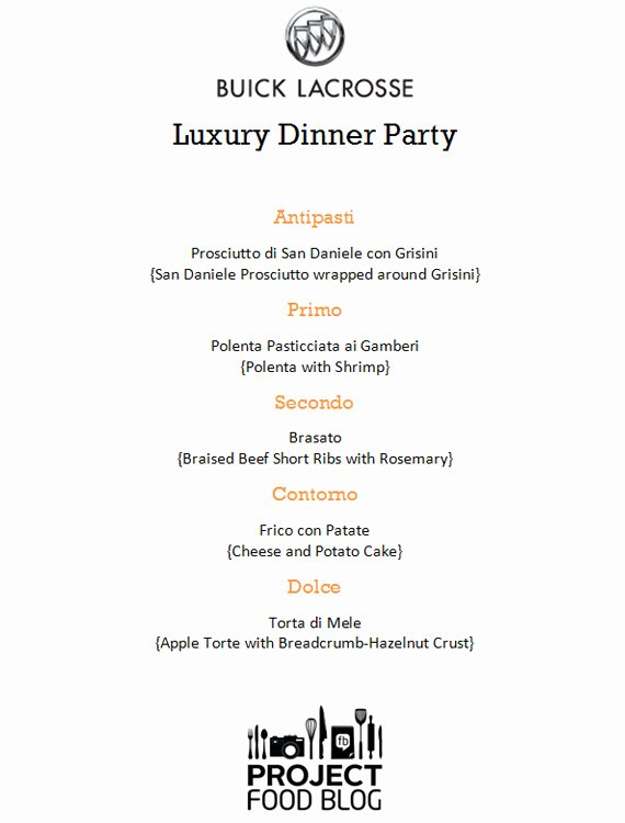 "Project Food Blog Challenge 3 ""luxury Dinner Party"