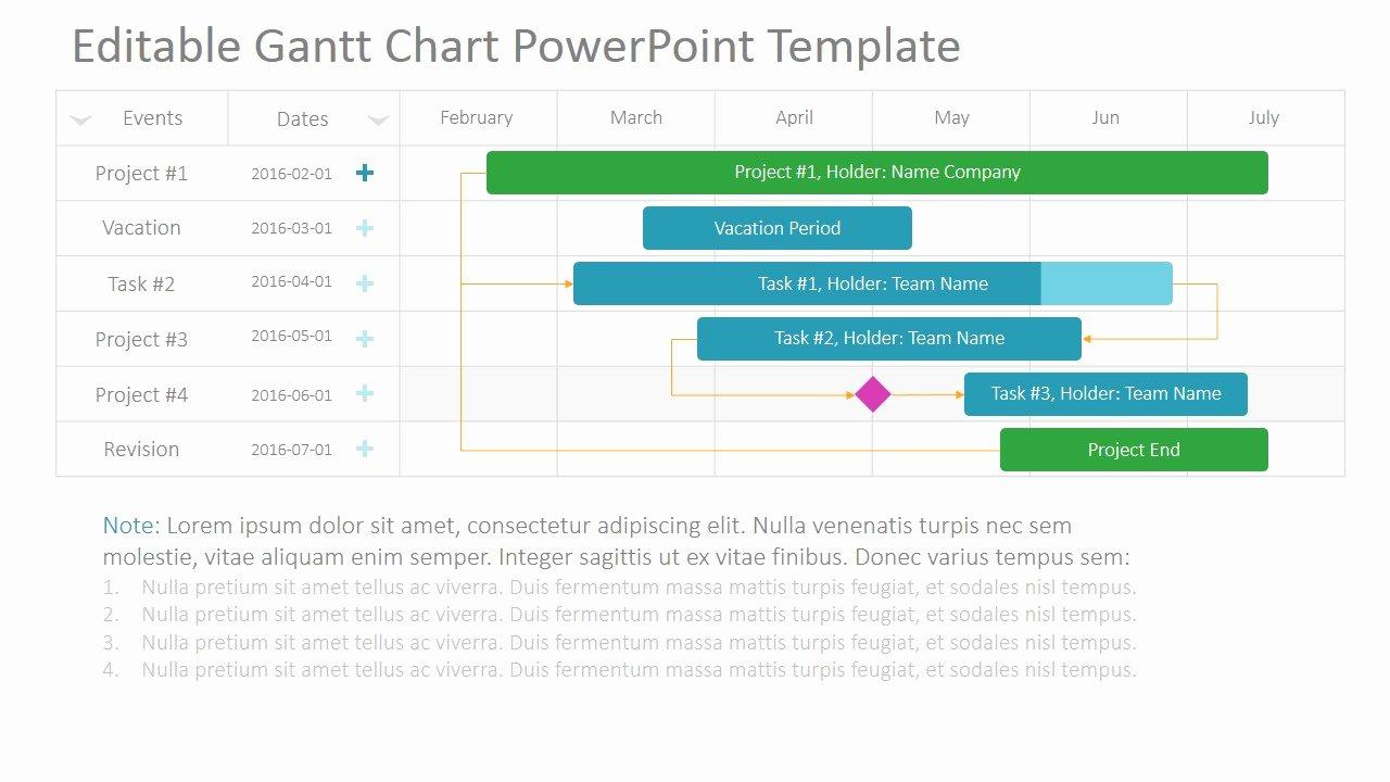 Project Gantt Chart Powerpoint Template Slidemodel