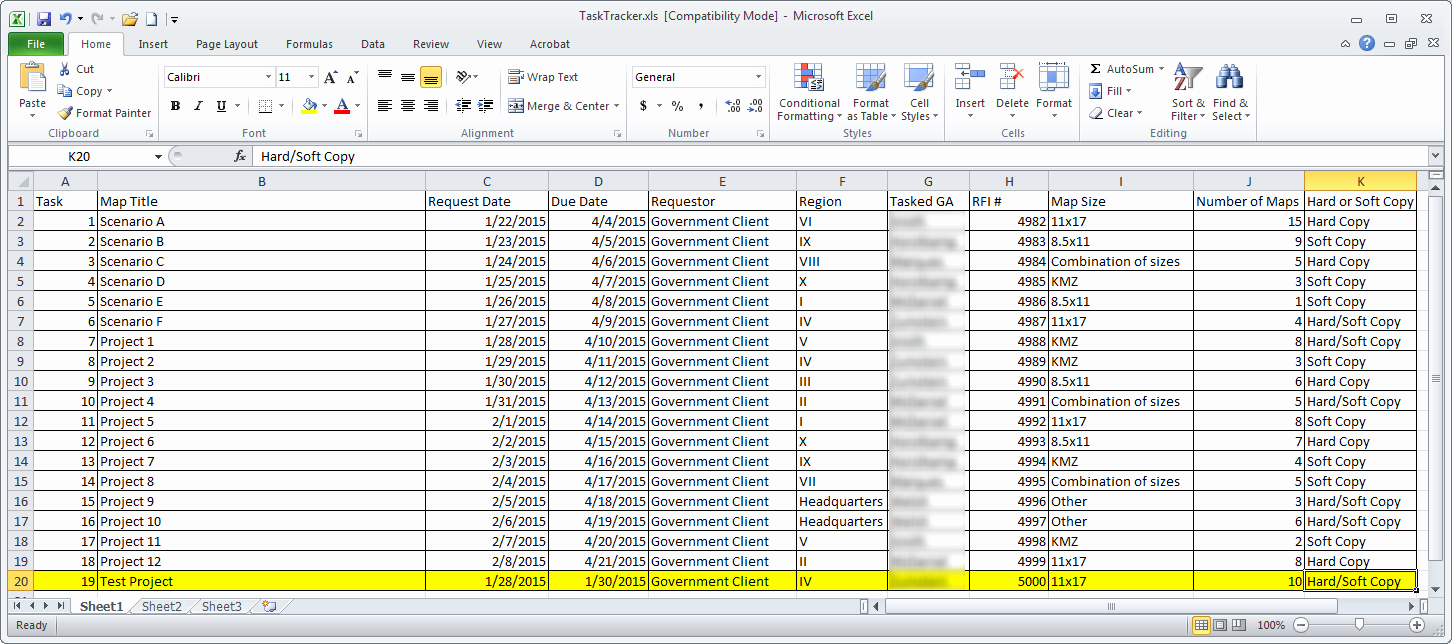 Project Management Action Item Tracking Document Tracking