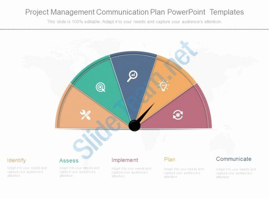 Project Management Munication Plan Powerpoint Templates