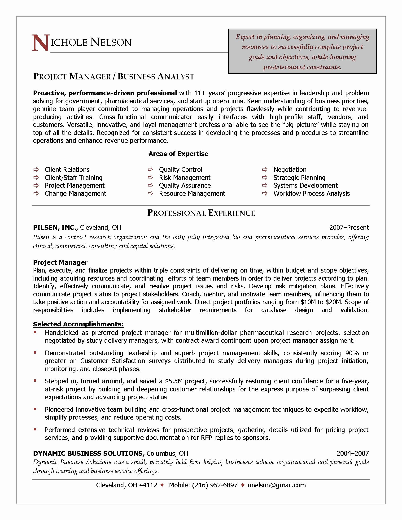 Project Management Resume Words Bongdaao
