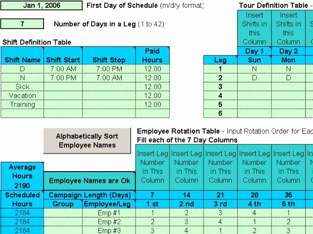 Project Management Rotating Shift Schedules for Your