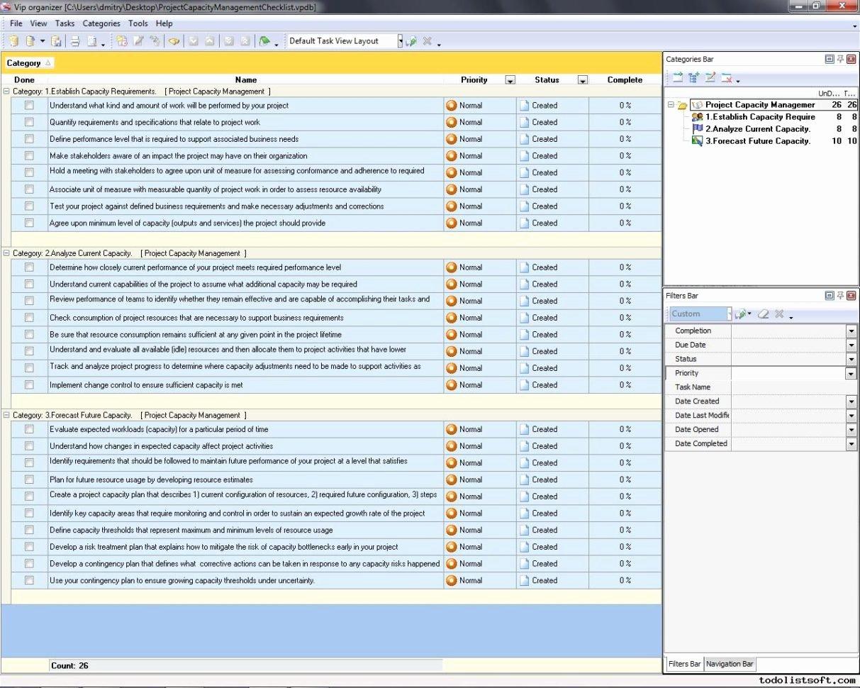 Project Management Spreadsheet Template Management