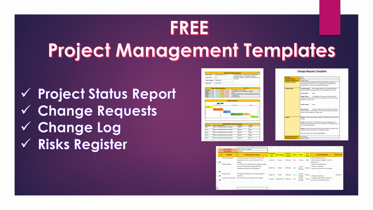 Project Management Templates 20 Free Downloads