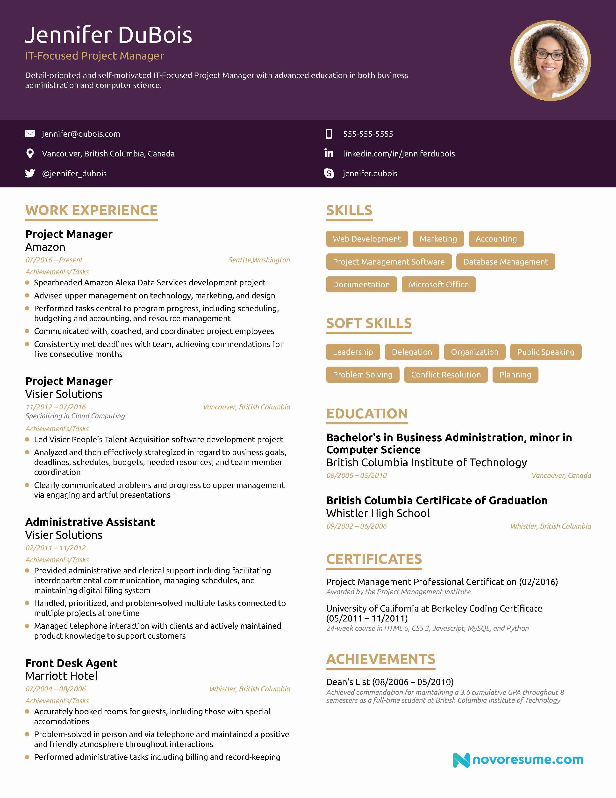 Project Manager Resume [2019] Example & Full Guide