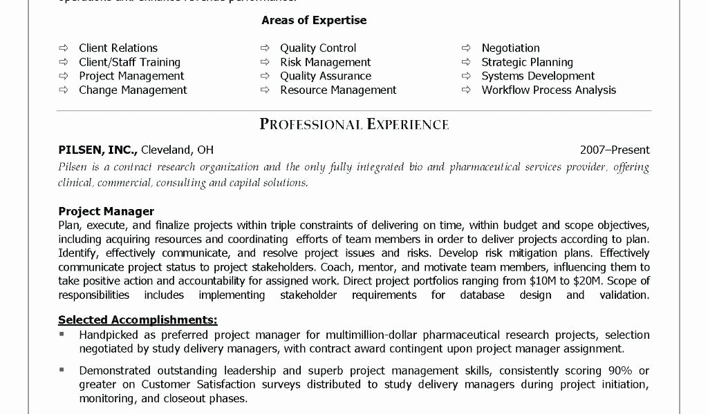Project Manager Resume Objective Statement